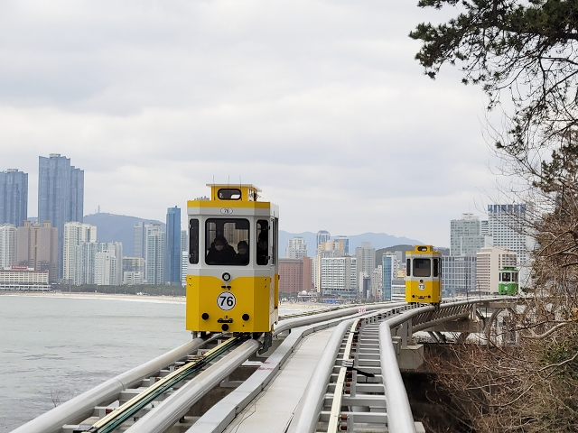 【釜山-海雲台】人氣爆棚的觀光鐵道 – 海雲台藍線公園 ( BLUE LINE PARK ) 海岸列車 +天空艙